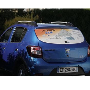 création d'un visuel pour flocage véhicule