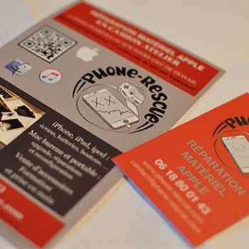 Création logo carte de visite flyer et flocage camion
